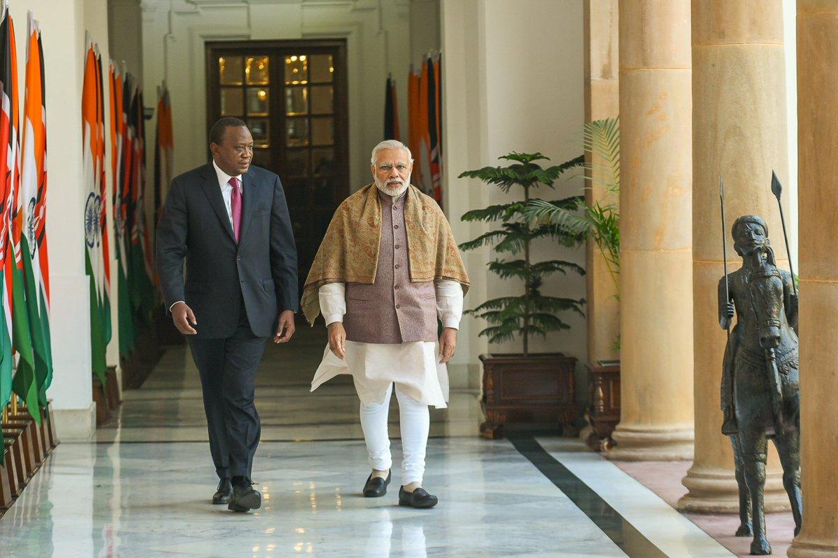 President kenyatta pm modi move to bolster kenya india - Prime minister of india office address ...